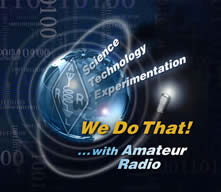 ARRL we do that logo showing a globe and we do that with amatuer radio text, very cool looking